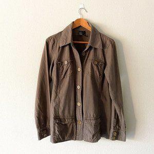 Kali Linen Cotton Army Green Lightweight Jacket